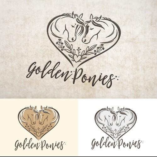 Feminine logo for horse lover