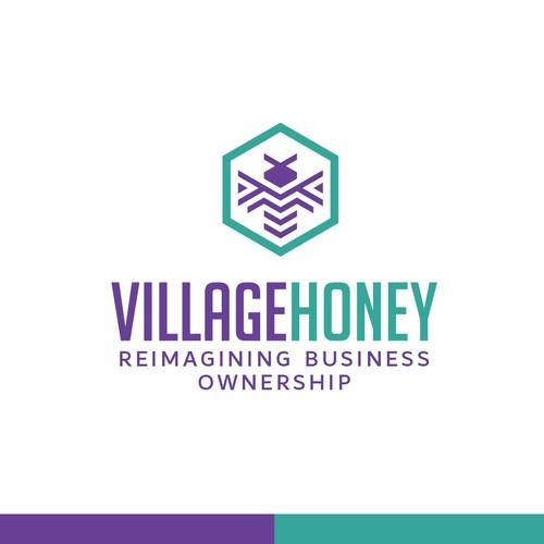 Logo design for VillageHoney