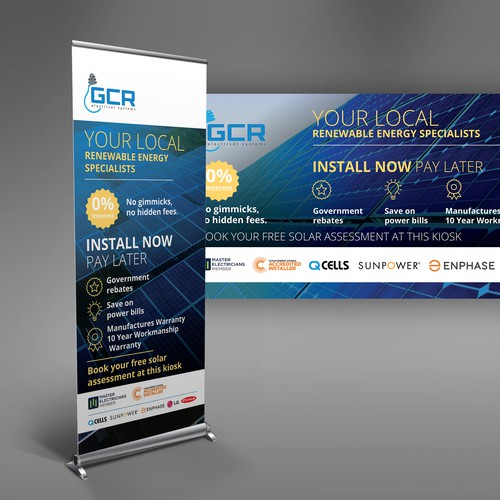 Pull up banner for GCR Electrical Systems