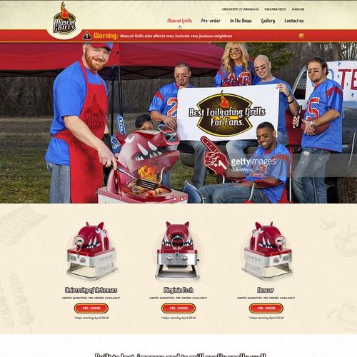 Mascot Grills Website