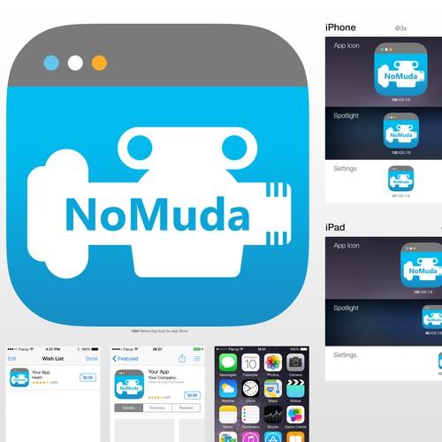 NoMuda App Icon for iOS devices