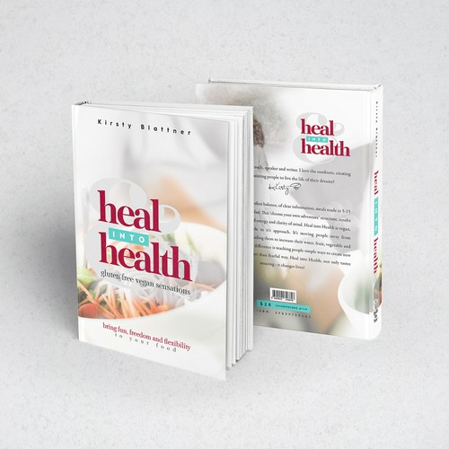 Healthy recipes book cover