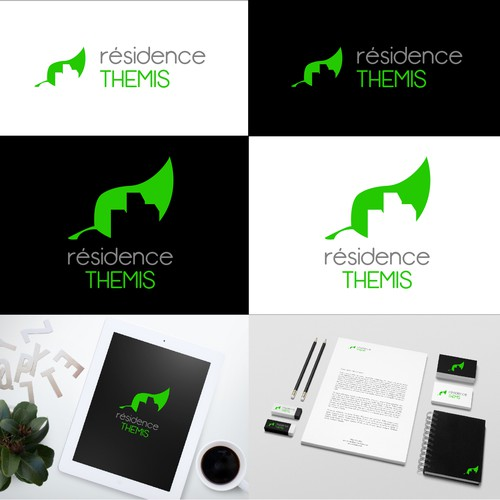 Creation of logo for a green sustainable real estate residentialbuilding
