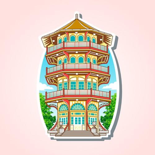 Patterson Pagoda Park Sticker