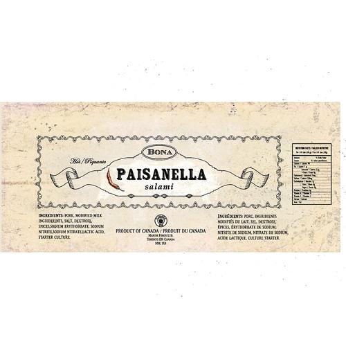 Vintage label for food