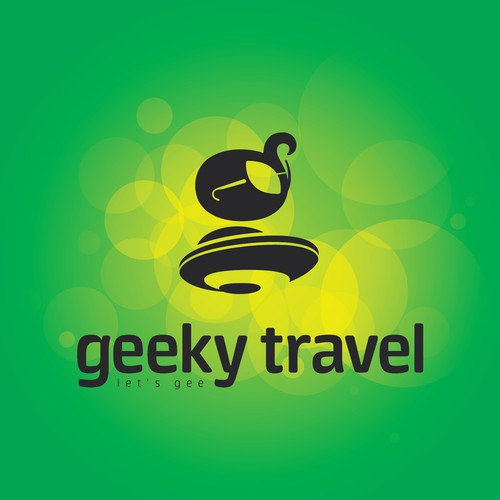 Create a worldwide brand logo for our Geeky travel plans!