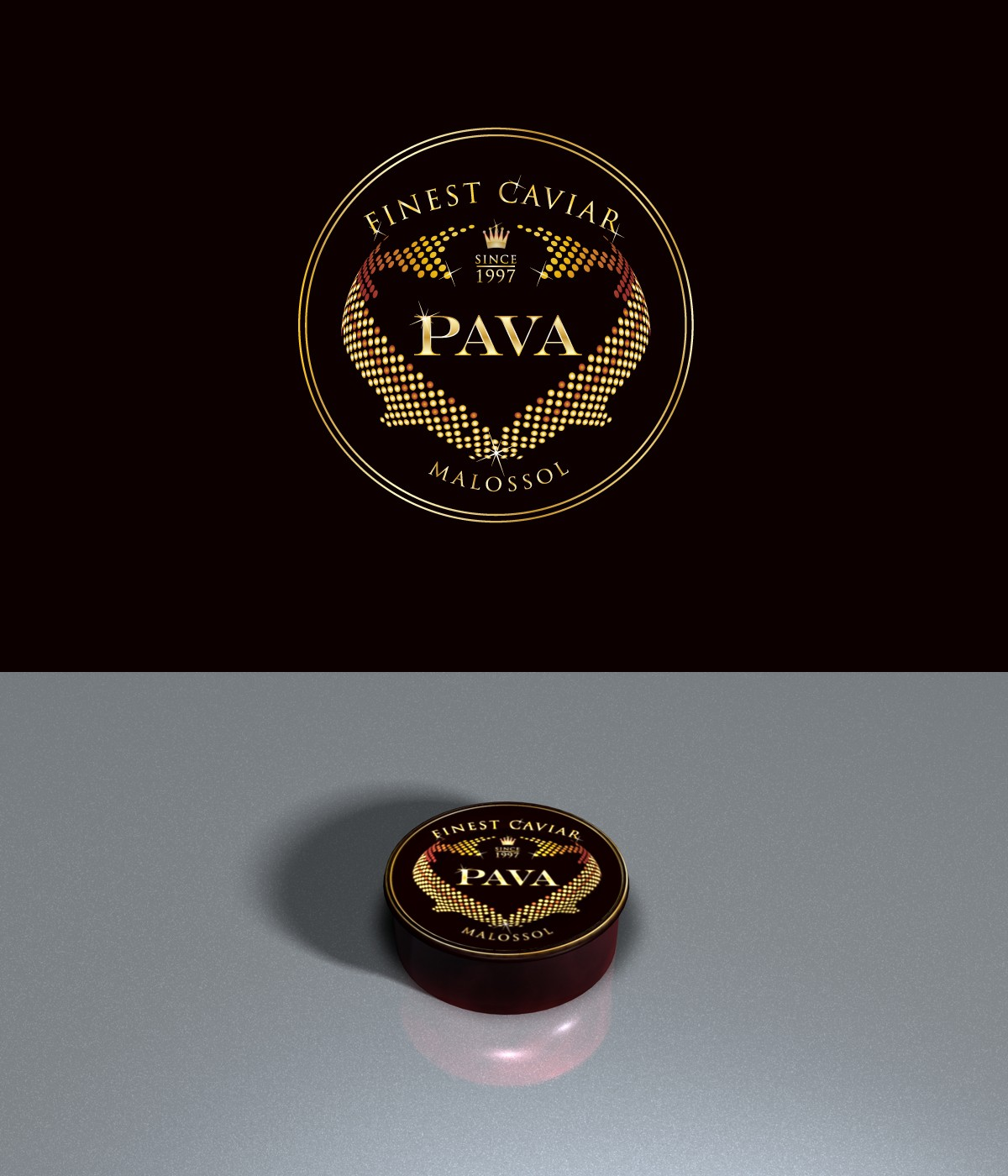 Create a unique logo for a fine caviar distributor