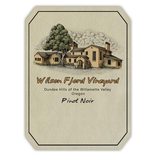 illustration for wine