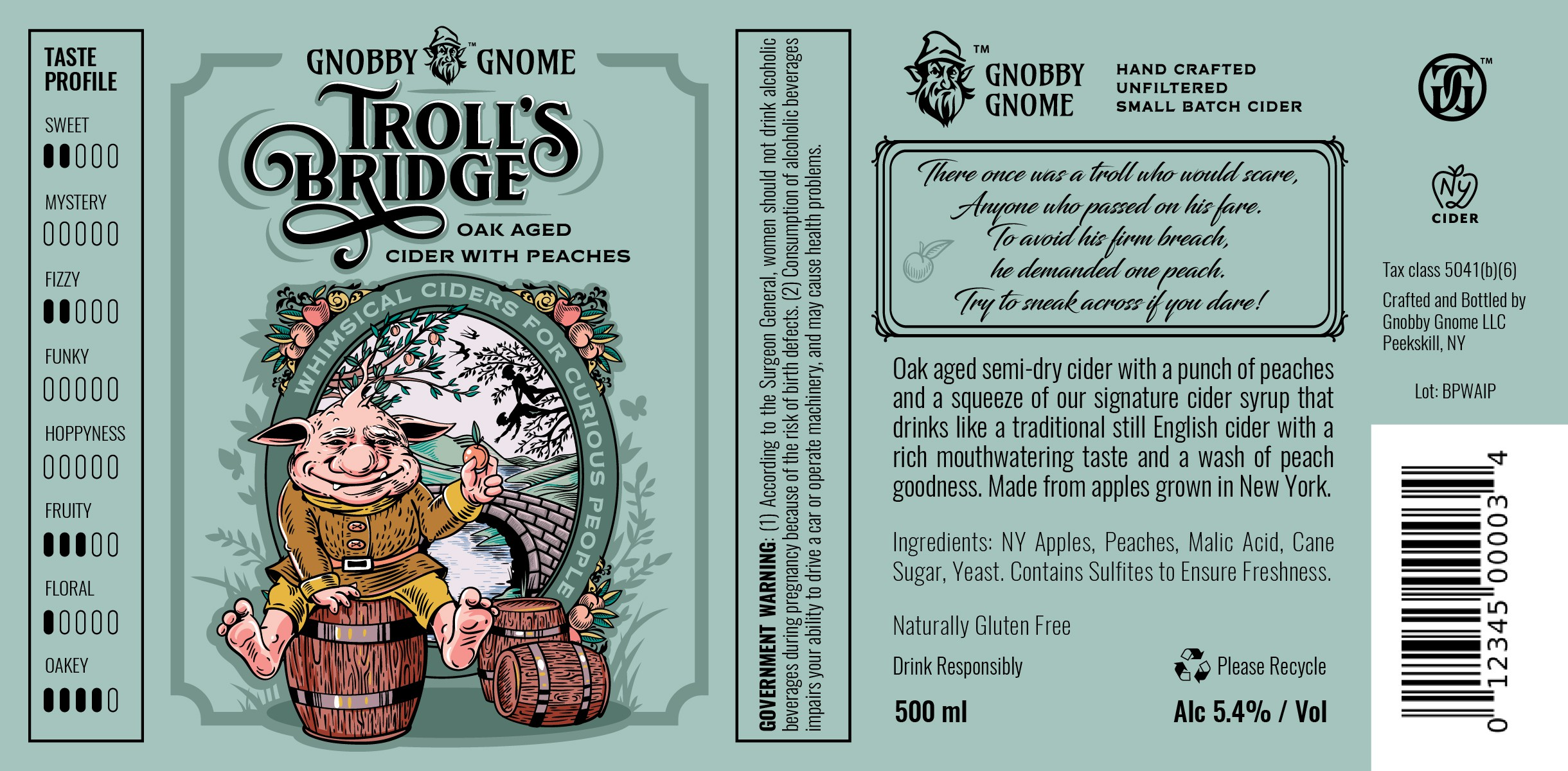 Gnobby Gnome Bottle Label Design Project