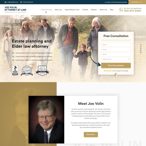 Website Design for Estate Planning Lawyer