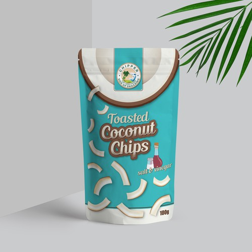 a pouch design for coconut chips.