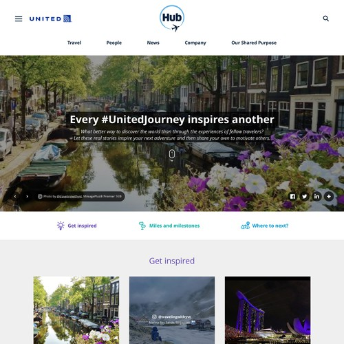 UnitedJourney page for United Airlines