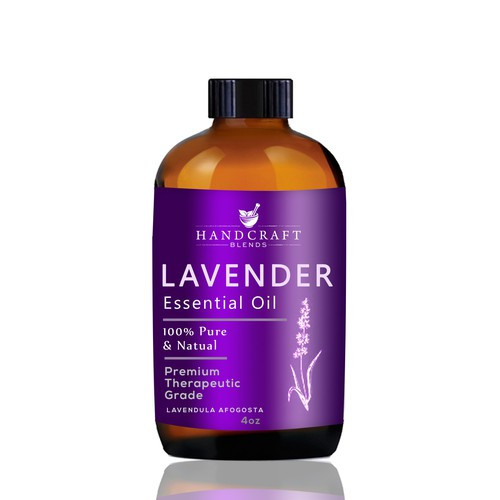 Label for Laveneder Essential Oils