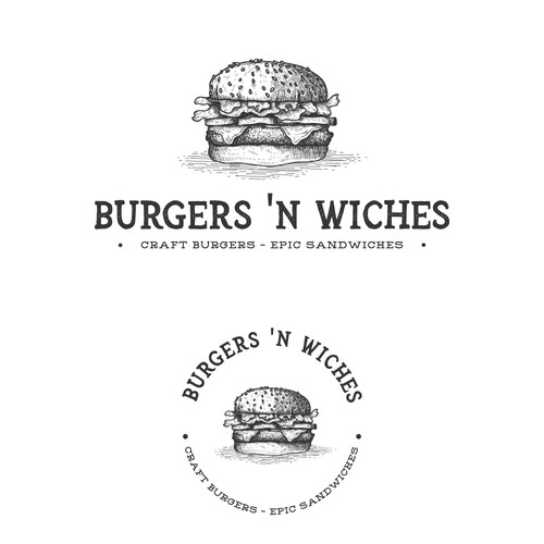 Vintage Burger Illustration Logo
