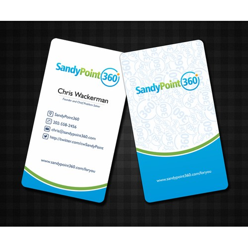 Help SandyPoint360 with a new business card