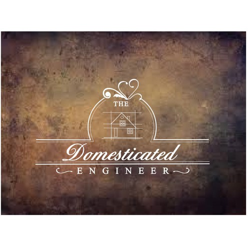 Create a Quirky Wedding Shop Logo for The Domesticated Engineer using both fonts and graphics with color