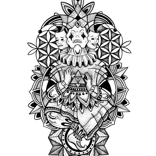 Joker tattoo design
