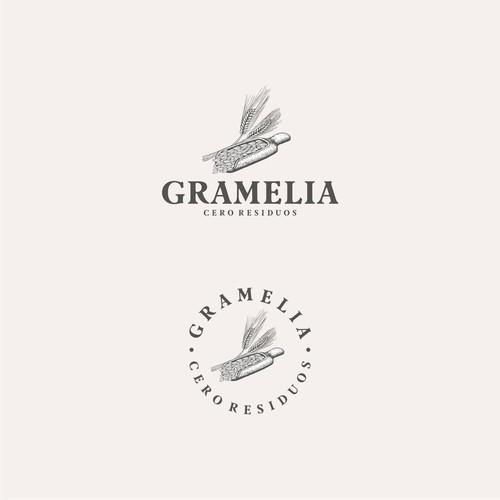 Gramelia organic design logo.