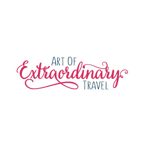Script and unique logo for a traveling agency