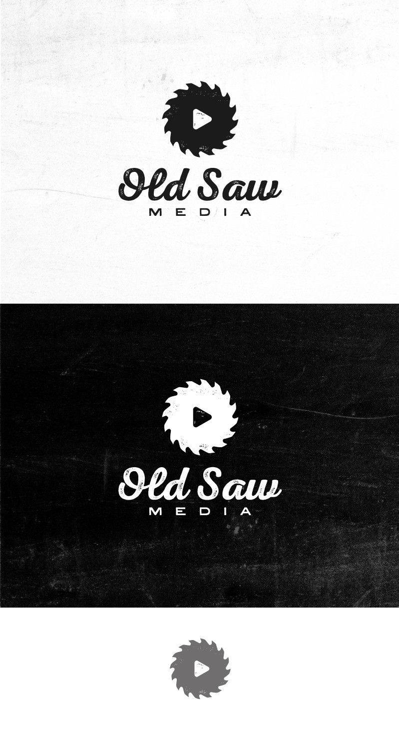 Old Saw Media needs an eye catching, modern logo with a weathered feel.
