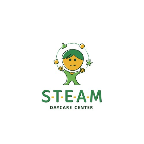 Logo for STEAM (Science, Technology, Engineering, Art, and Mathematics) International Daycare and Early Childhood Development Center.