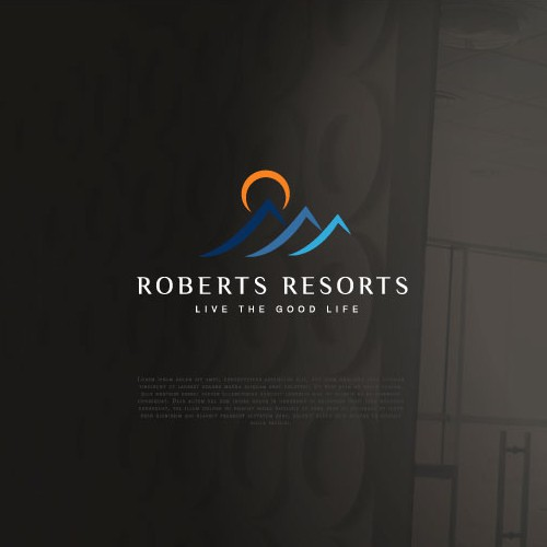 Clean and modern logo for resorts
