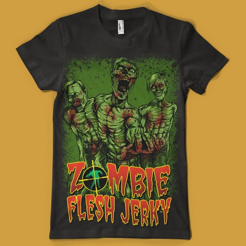 Zombie Flesh Jerky - T-shirt Design