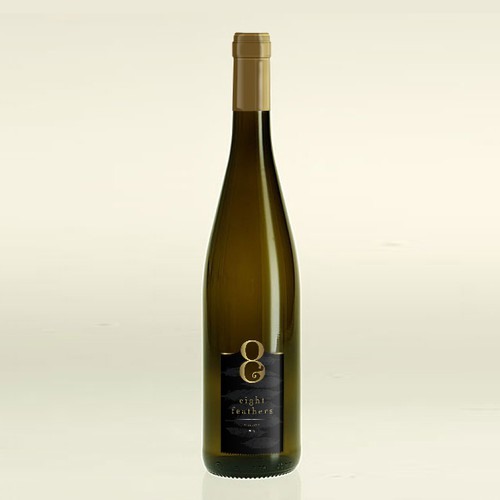 Luxury White Wine Label - 8 Feathers