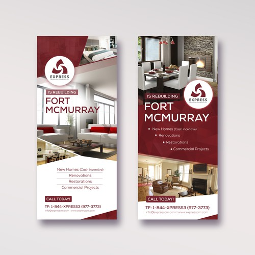 A clear and stand out brochure for home rebuilds