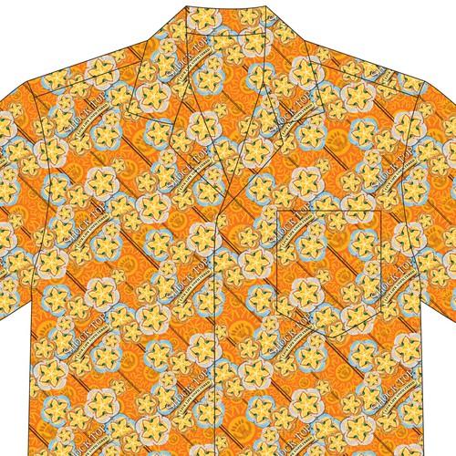 Hawaiian themed Button down Shirt