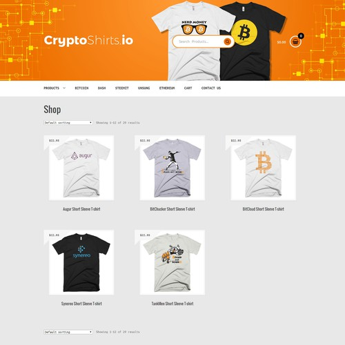 CryptoShirt.io Banner Website