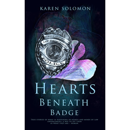 Hearts Beneath the Badge Book Cover Design