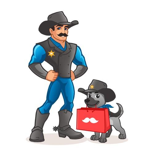 Sheriff Mascot / Cartoon