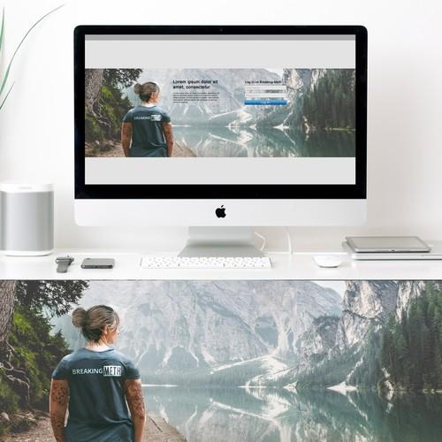 Header illustration for an online support platform
