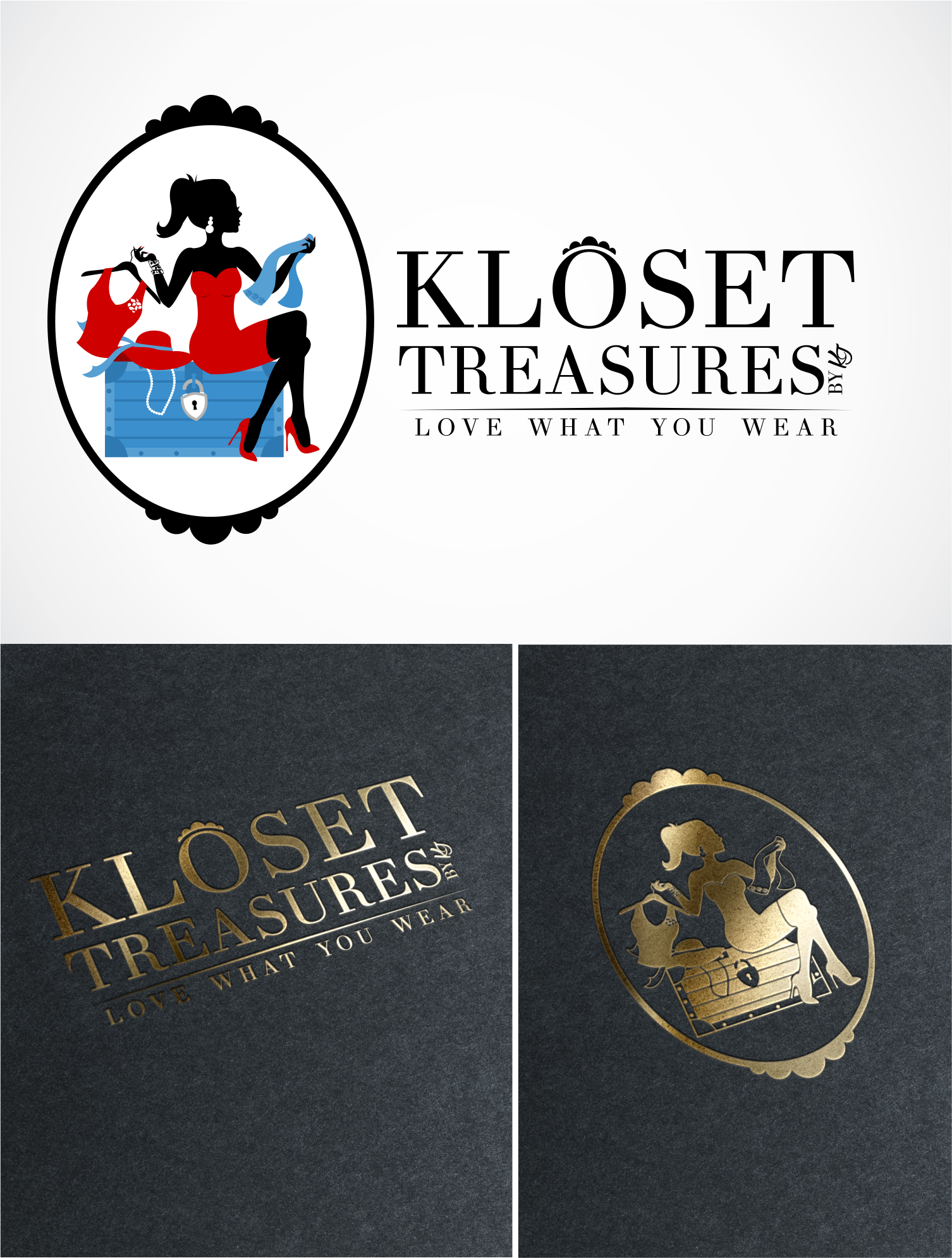 Create a Vintage Look for Kloset Treasures LOGO an Online Clothing Boutique!