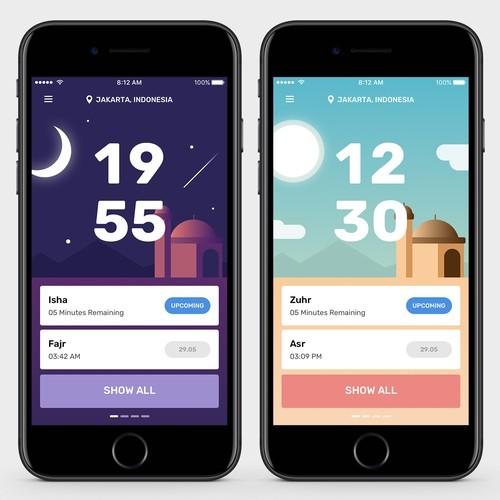UI Design for Namaz Time