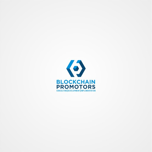 blockchain promotors logo design