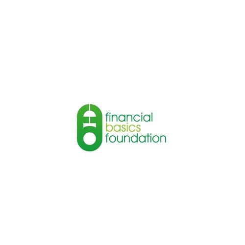 Initials logo for financial basics foundation