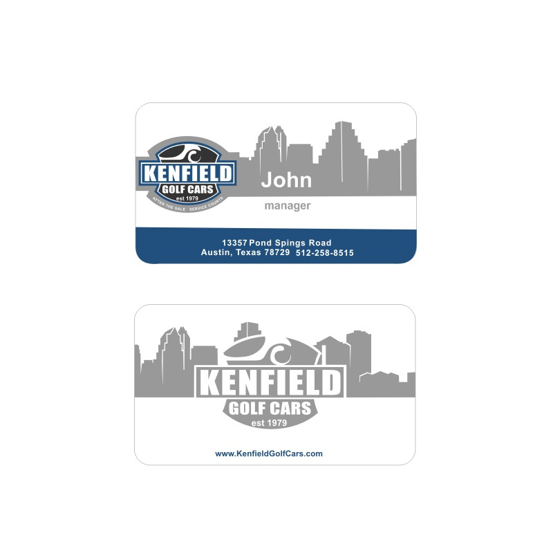 New logo and business card wanted for Kenfield Golf Cars