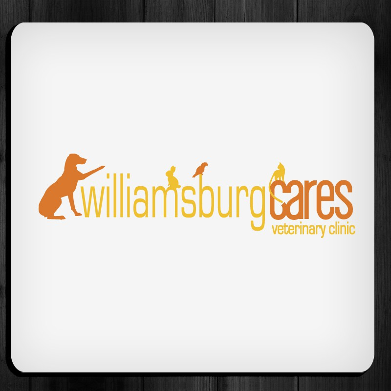 Create the next logo for Williamsburg Cares Veterinary Clinic
