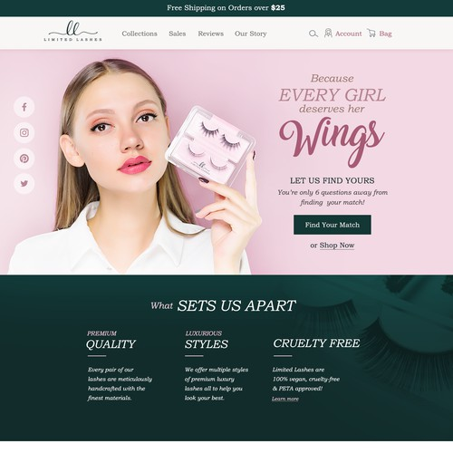 Limited Lashes Website