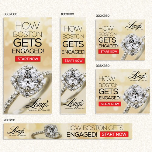Engagement Ring Ads For Boston Jeweler