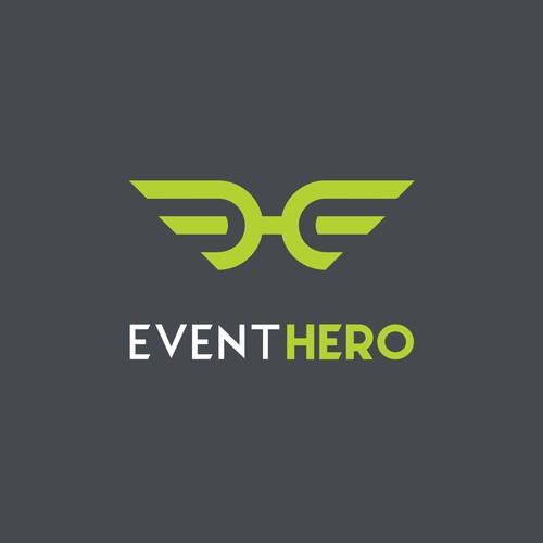 Modern logo concept for event hero.
