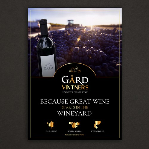 Print ad for an estate winery