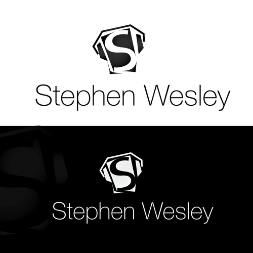 creative font word-based logo for Stephen Wesley