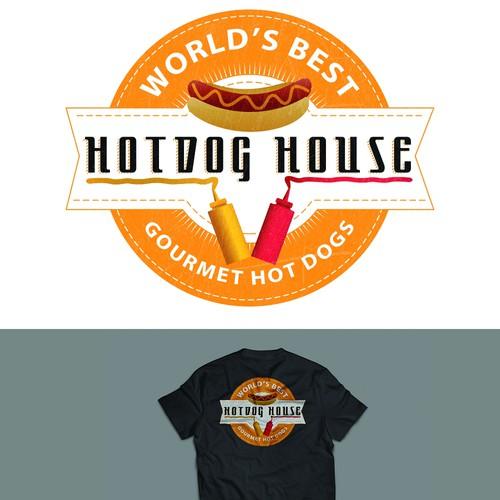 Bold Logo for Gourmet Hot Dog Restaurant