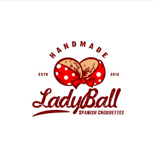 Logo Concept for LadyBalls Spanish Croquettes
