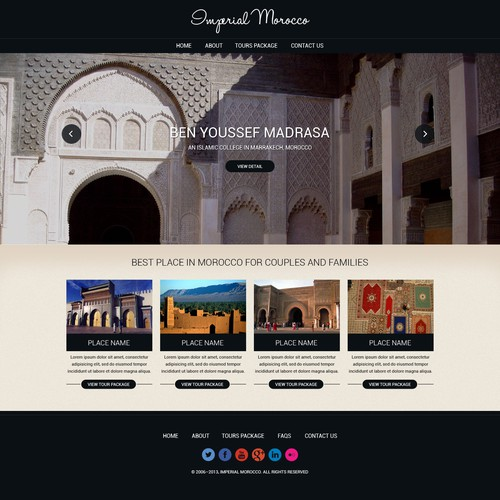 website design for Imagine Morocco
