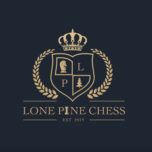 Gold Emblems design for a Lone Pine Chess