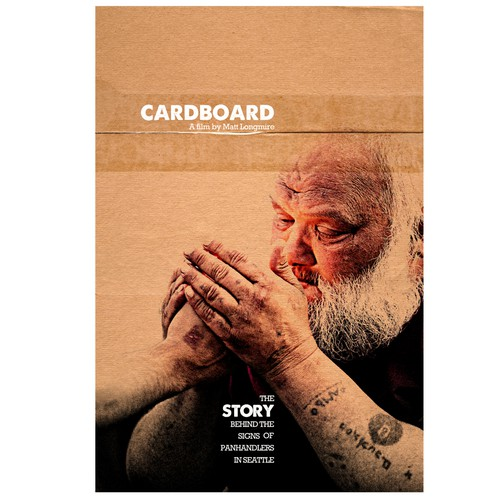 """Design the Poster for """"Cardboard"""" a Documentary about Panhandlers in Seattle"""